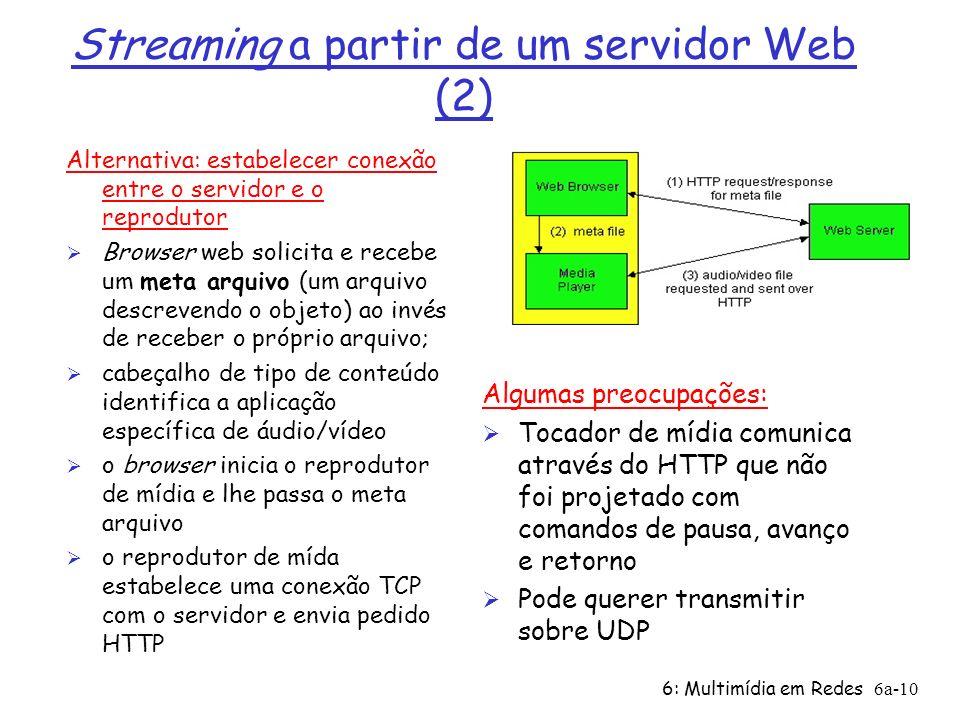 Streaming a partir de um servidor Web (2)