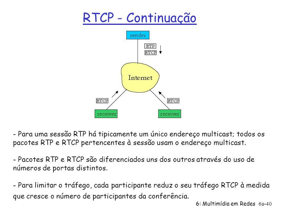 RTCP - Continuação