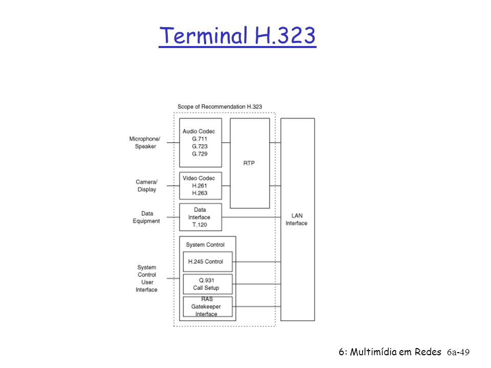 Terminal H.323 6: Multimídia em Redes