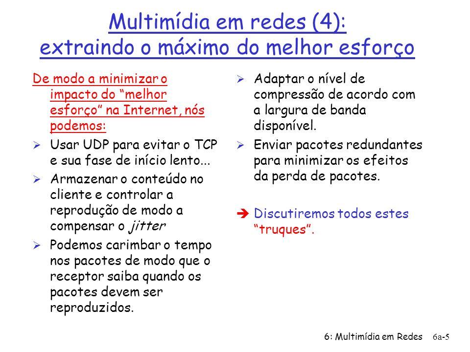 Multimídia em redes (4): extraindo o máximo do melhor esforço