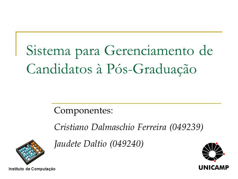 Sistema para Gerenciamento de Candidatos à Pós-Graduação