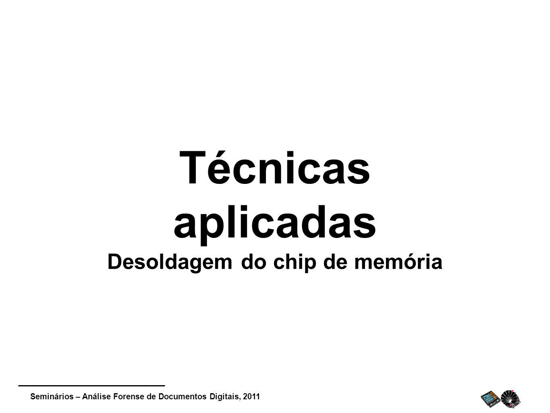 Desoldagem do chip de memória