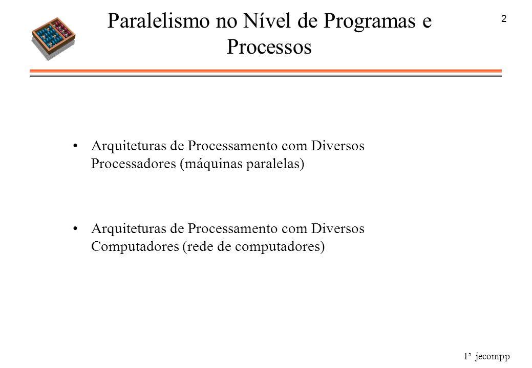 Paralelismo no Nível de Programas e Processos