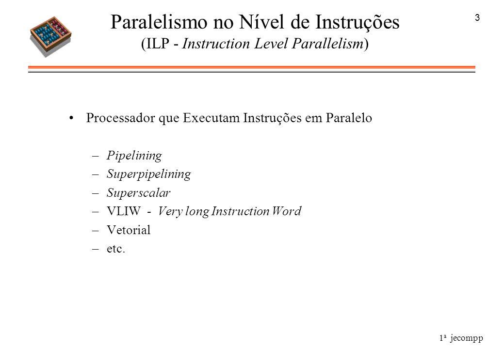 3Paralelismo no Nível de Instruções (ILP - Instruction Level Parallelism) Processador que Executam Instruções em Paralelo.