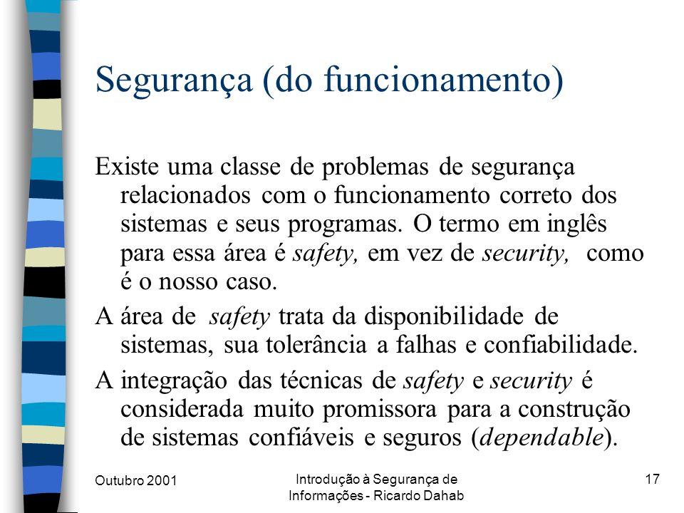 Segurança (do funcionamento)