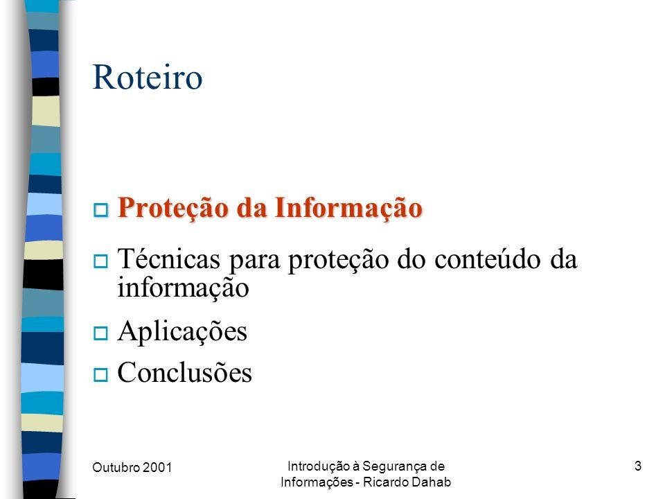 Introdução à Segurança de Informações - Ricardo Dahab