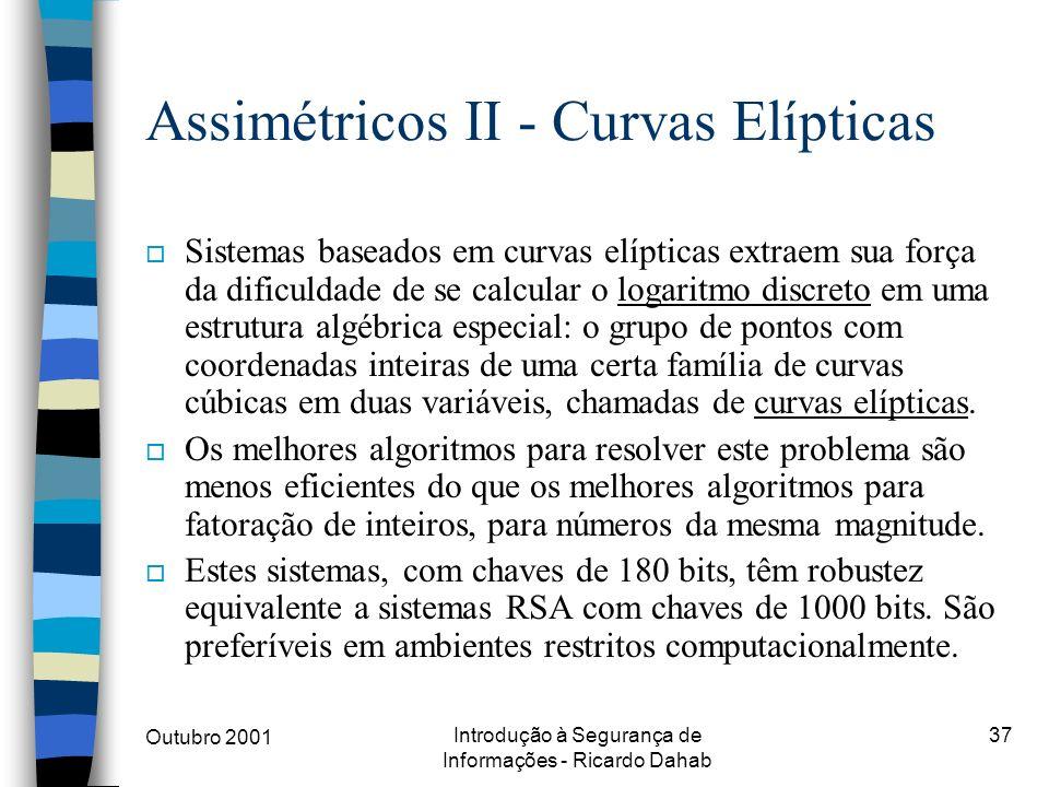Assimétricos II - Curvas Elípticas