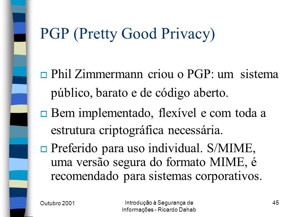 PGP (Pretty Good Privacy)