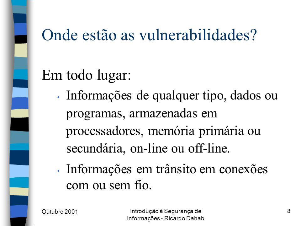 Onde estão as vulnerabilidades