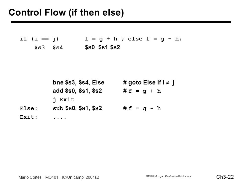 Control Flow (if then else)