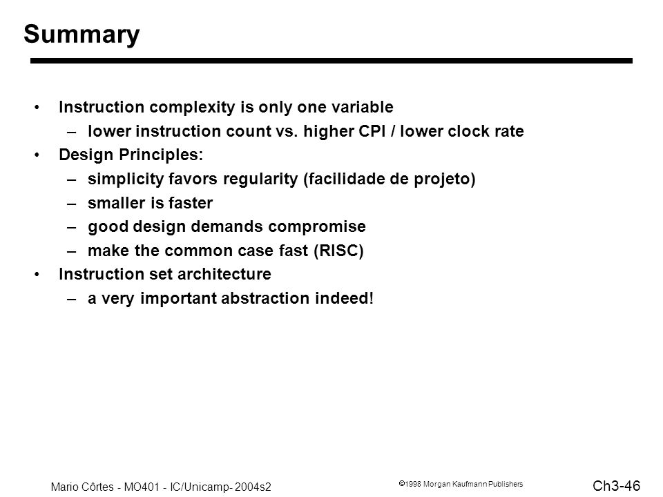 Summary Instruction complexity is only one variable