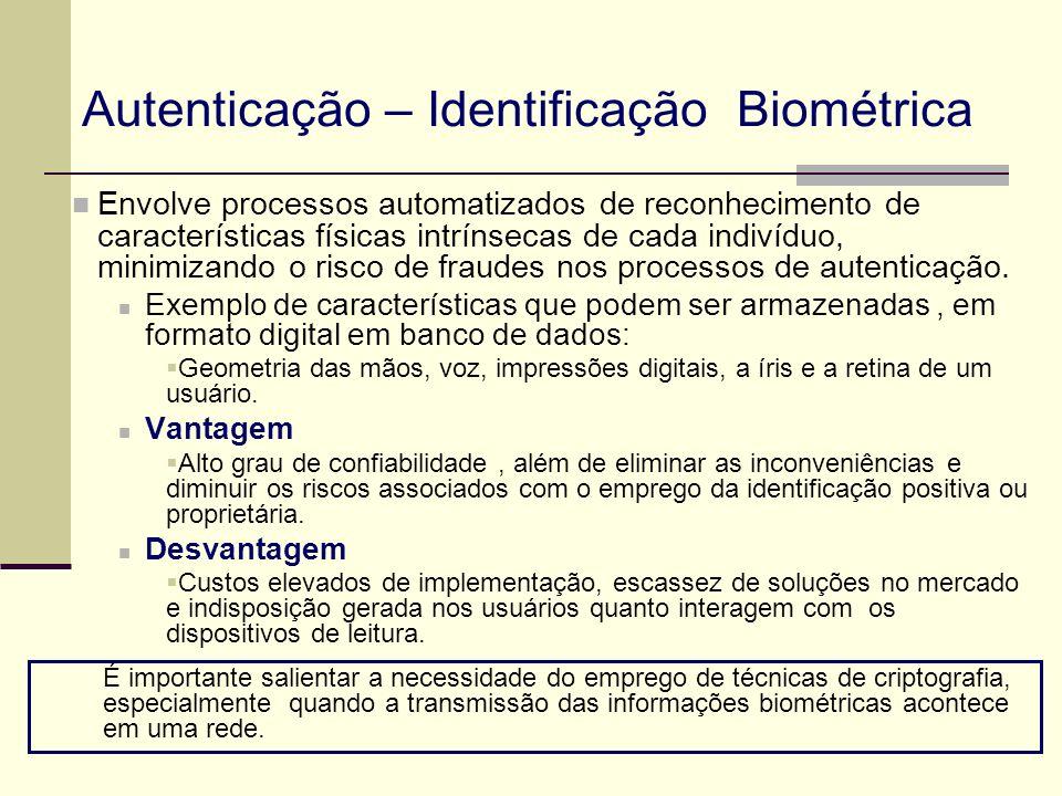 Autenticação – Identificação Biométrica