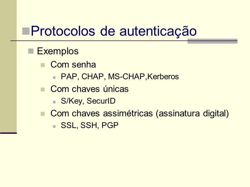 Protocolos de autenticação