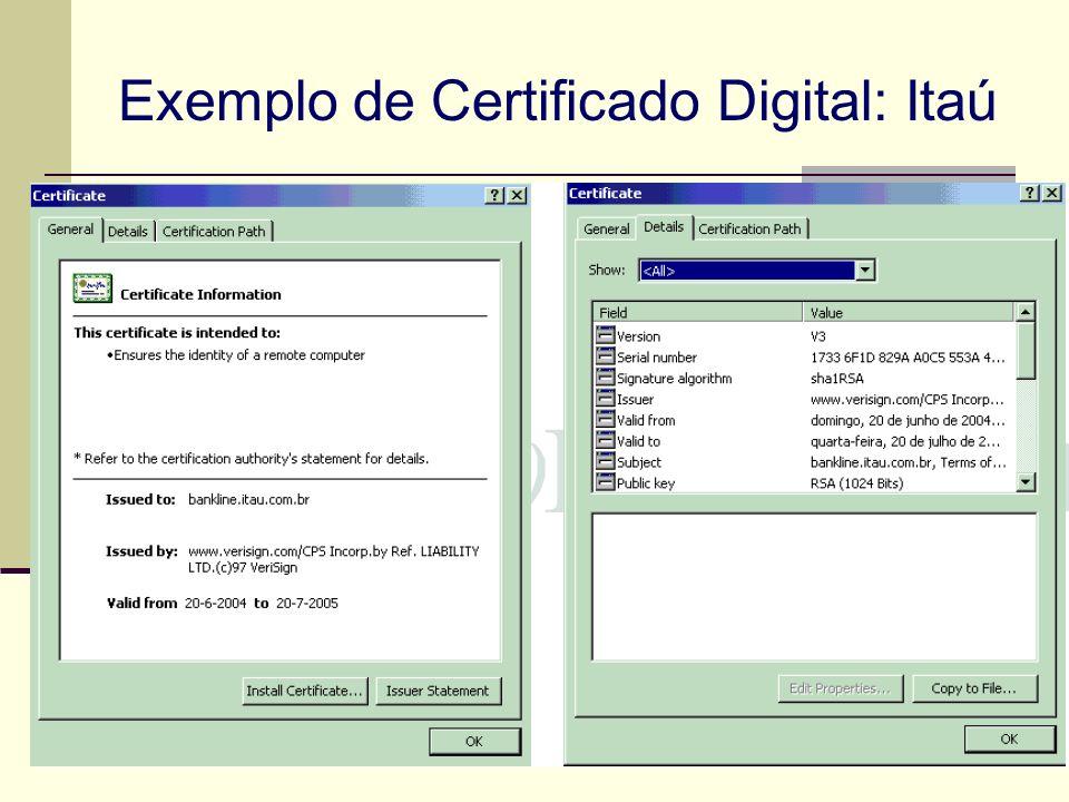 Exemplo de Certificado Digital: Itaú