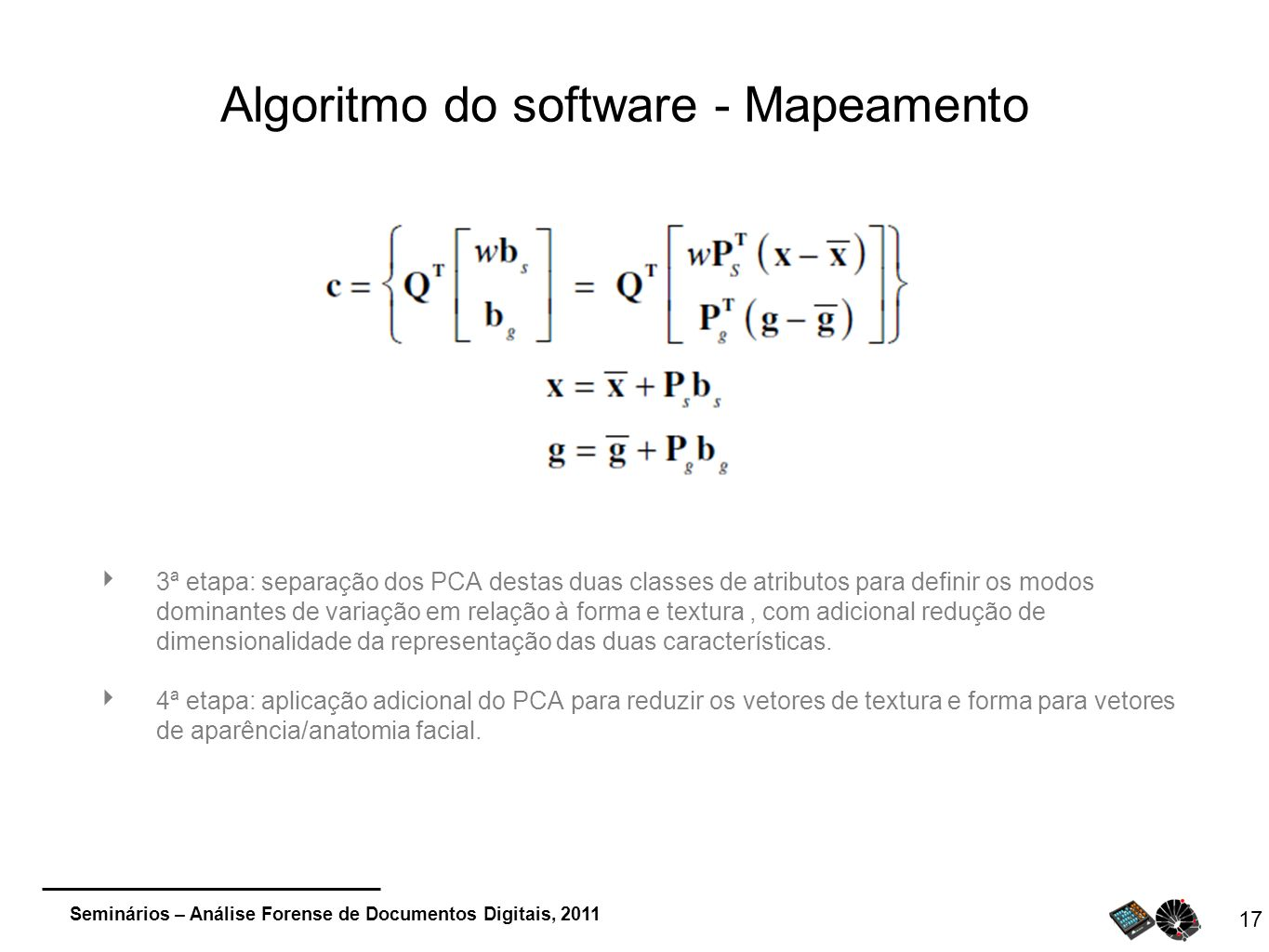 Algoritmo do software - Mapeamento