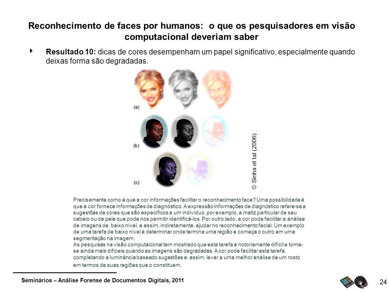 Reconhecimento de faces por humanos: o que os pesquisadores em visão computacional deveriam saber
