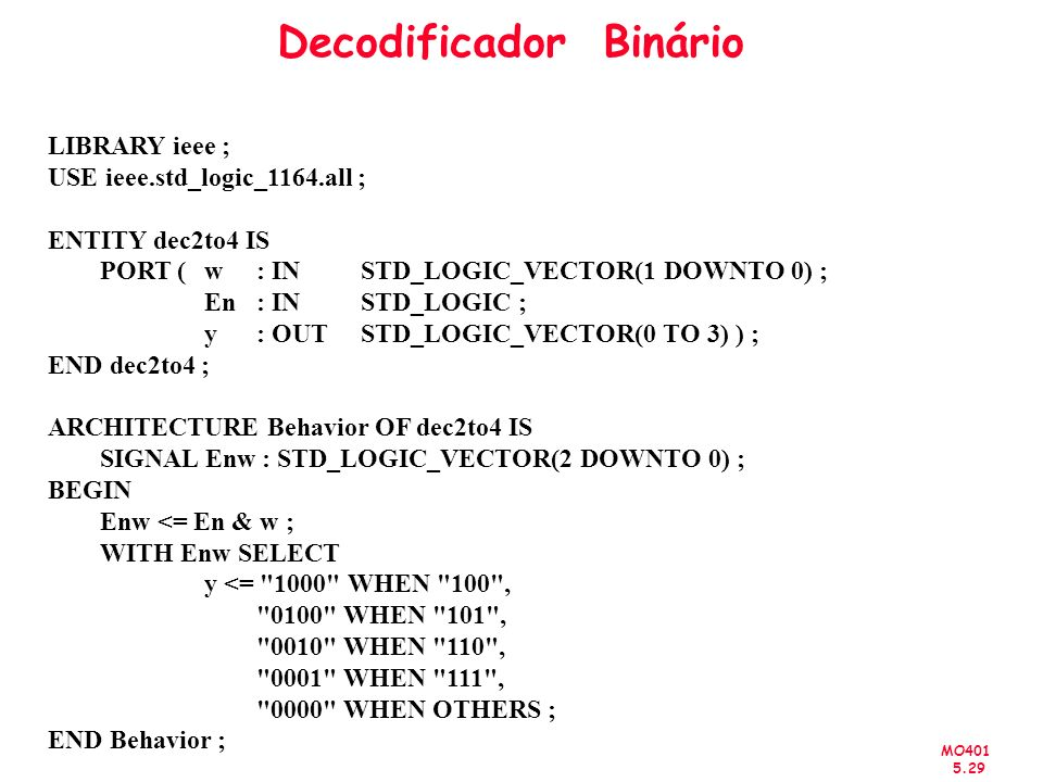 Decodificador Binário