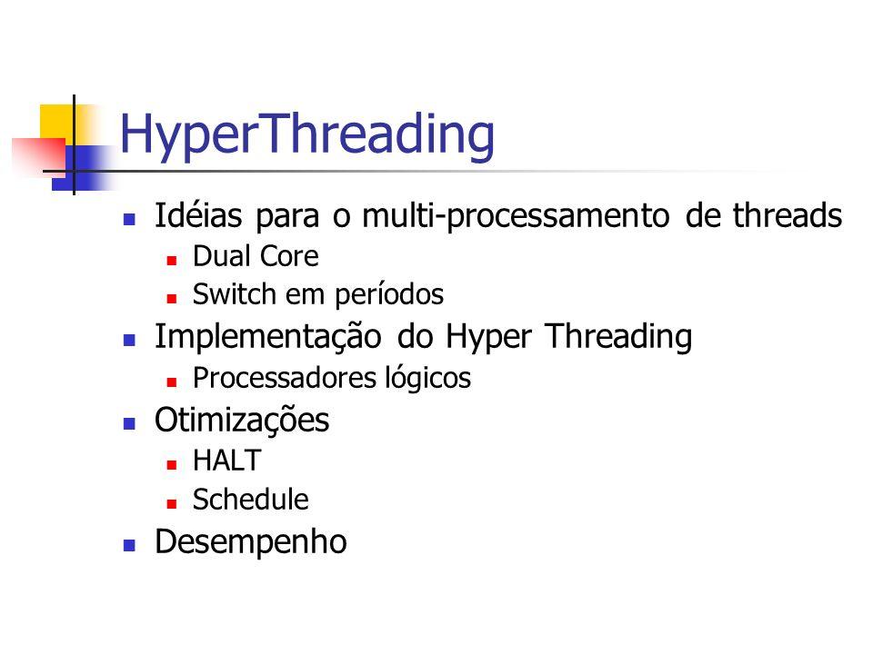 HyperThreading Idéias para o multi-processamento de threads