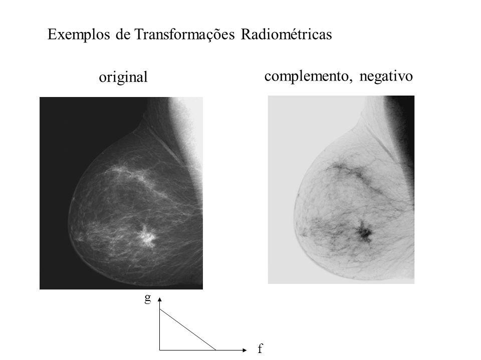 Exemplos de Transformações Radiométricas