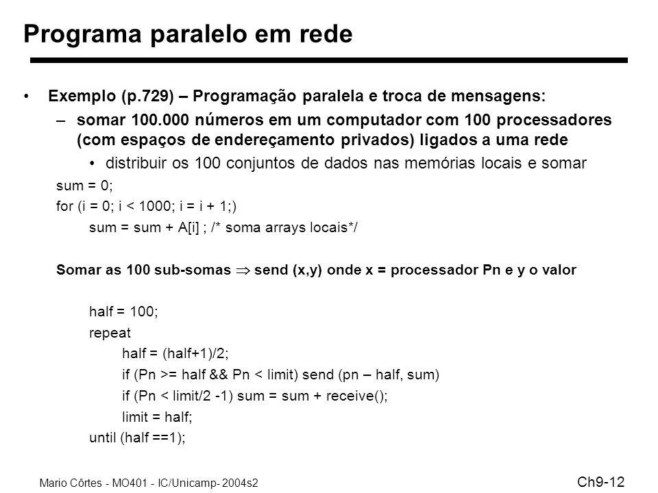 Programa paralelo em rede