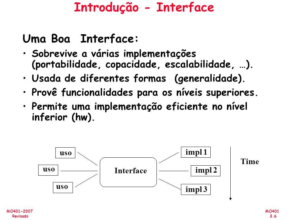 Introdução - Interface