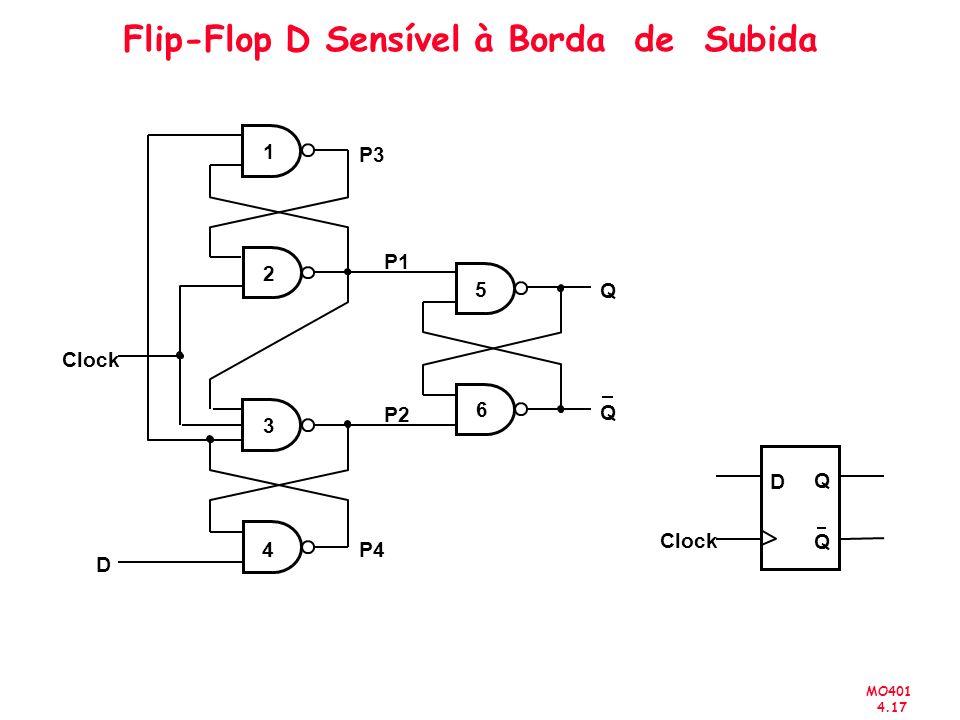 Flip-Flop D Sensível à Borda de Subida