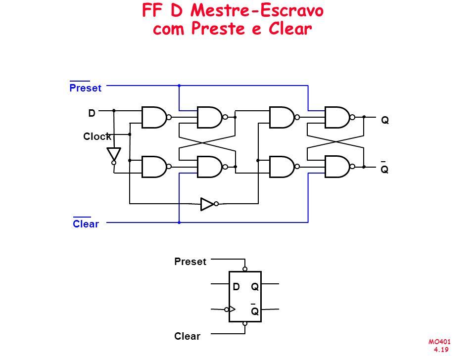 FF D Mestre-Escravo com Preste e Clear
