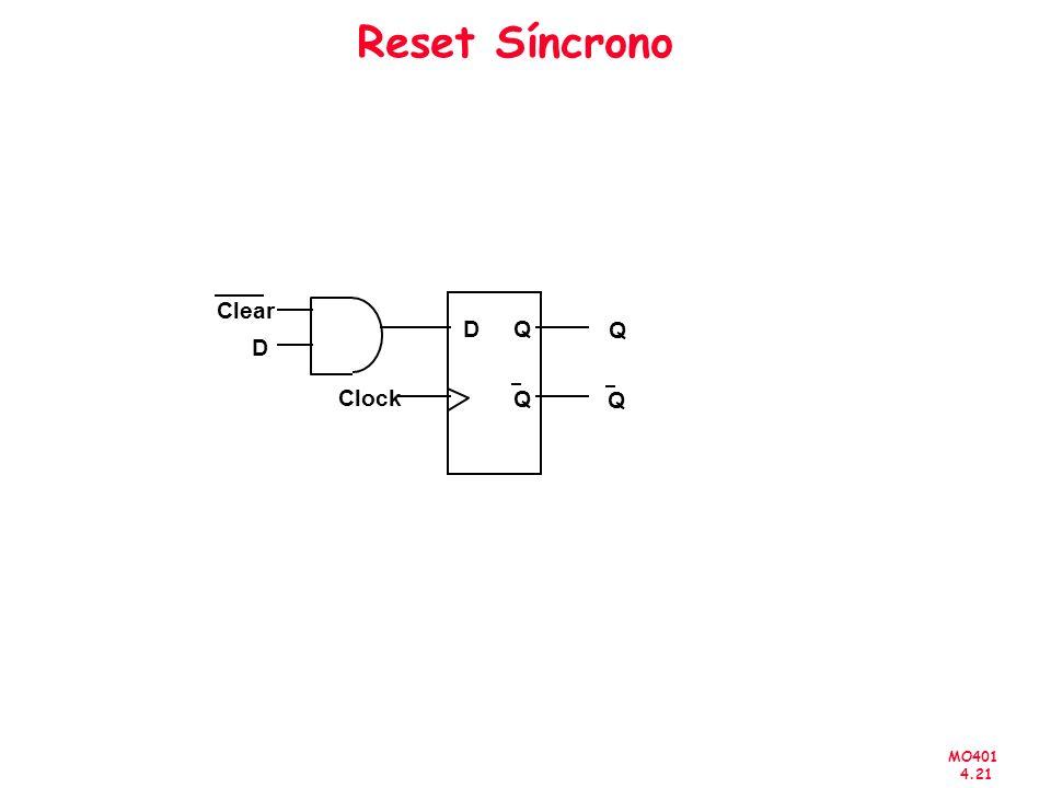 Reset Síncrono Clear D Q Q D Clock Q Q