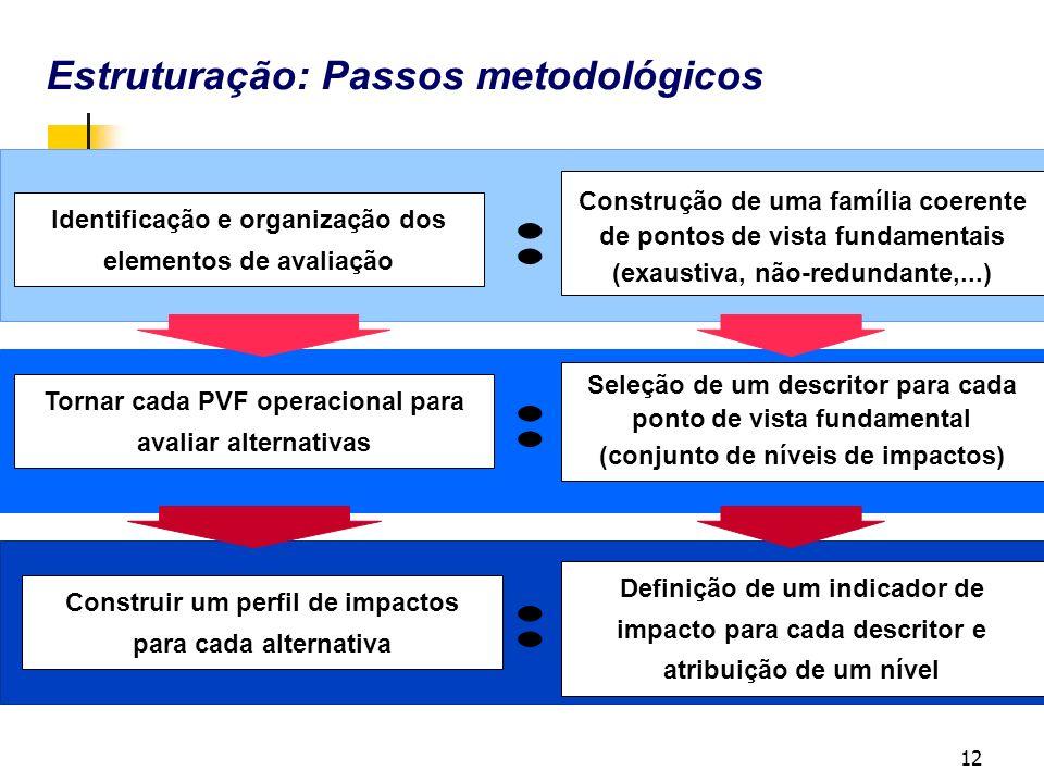 : Estruturação: Passos metodológicos