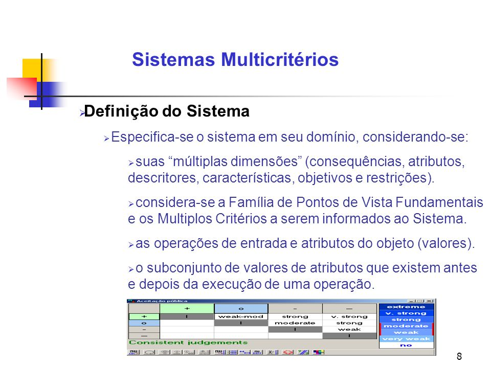 Sistemas Multicritérios