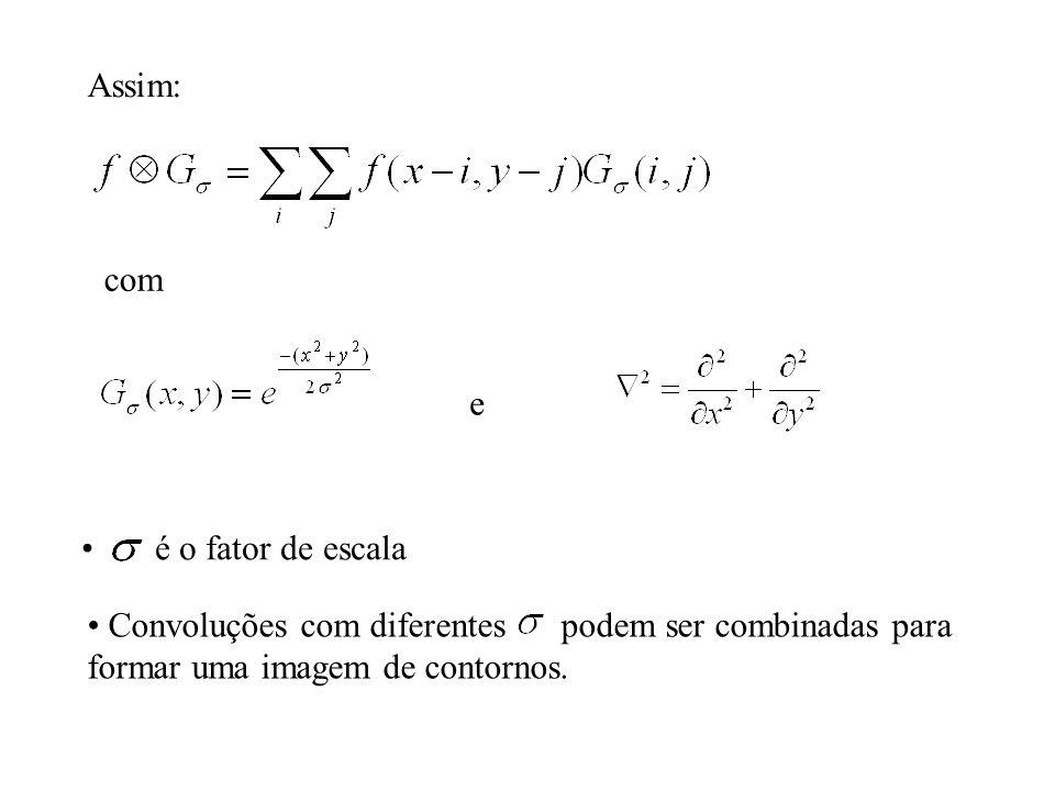 Assim: com. e. é o fator de escala. Convoluções com diferentes podem ser combinadas para.