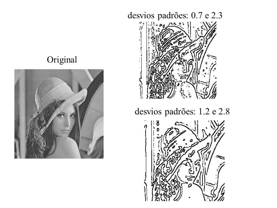 desvios padrões: 0.7 e 2.3 Original desvios padrões: 1.2 e 2.8