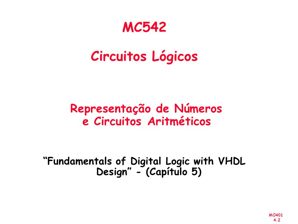Fundamentals of Digital Logic with VHDL Design - (Capítulo 5)
