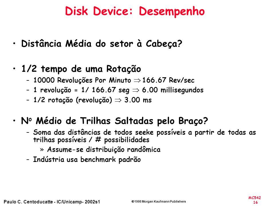 Disk Device: Desempenho