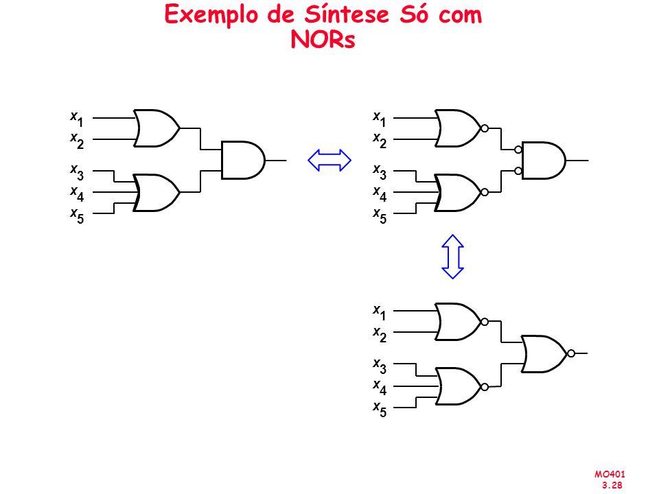 Exemplo de Síntese Só com NORs