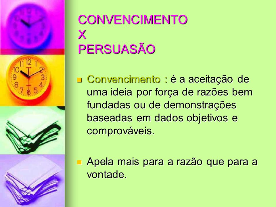 CONVENCIMENTO X PERSUASÃO