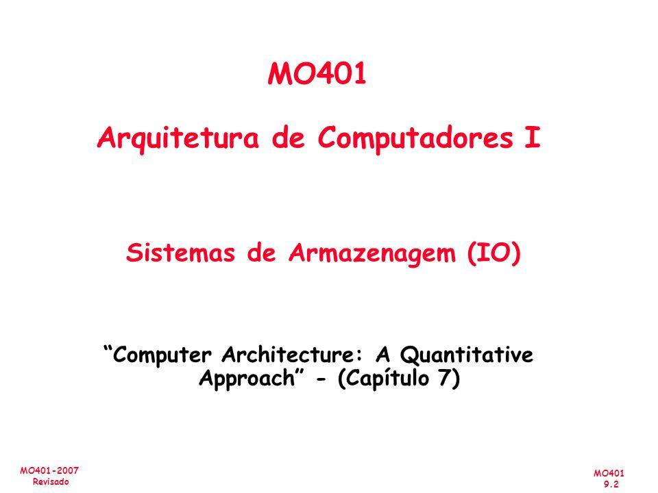 MO401 Arquitetura de Computadores I Sistemas de Armazenagem (IO)
