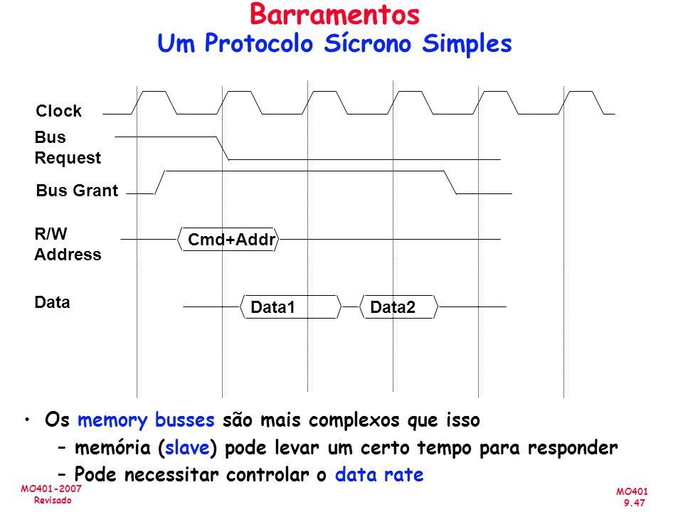 Barramentos Um Protocolo Sícrono Simples