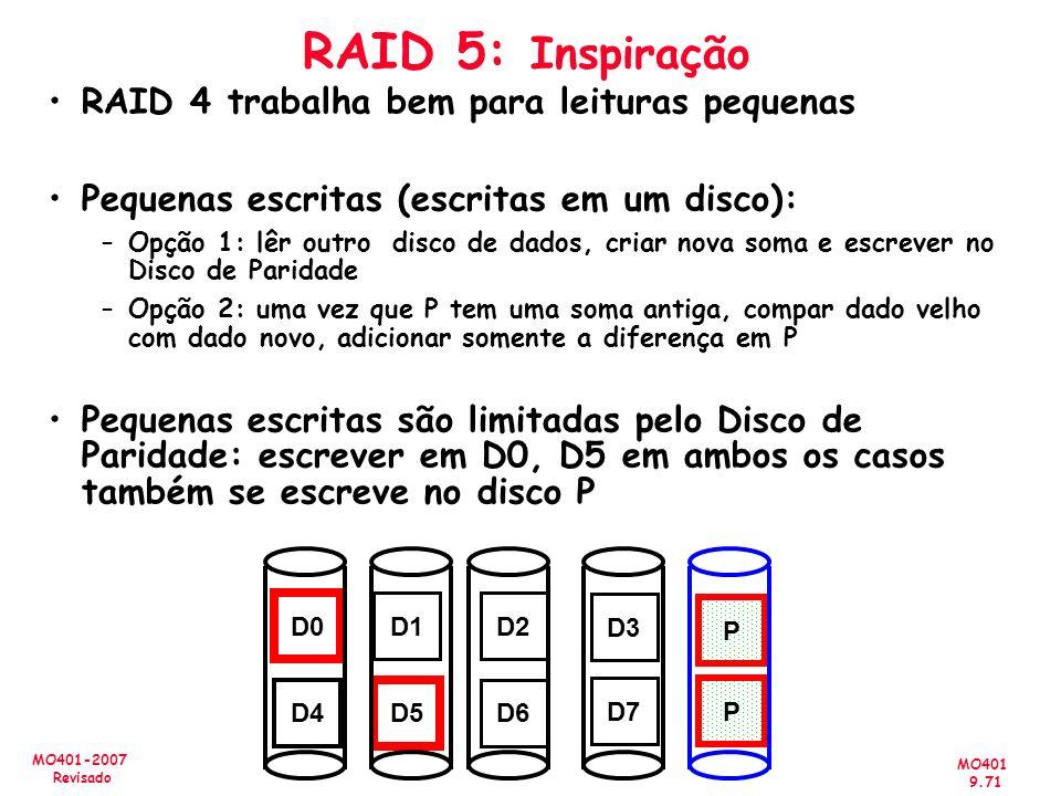 RAID 5: Inspiração RAID 4 trabalha bem para leituras pequenas