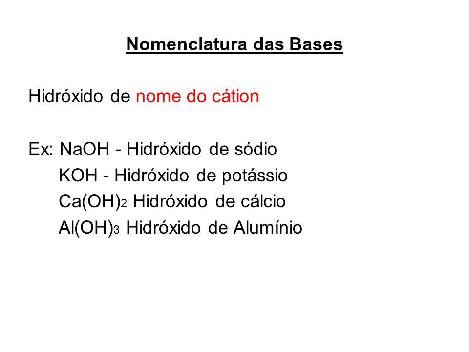 Nomenclatura das Bases