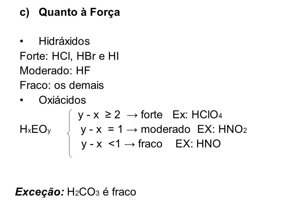 HxEOy y - x = 1 → moderado EX: HNO2