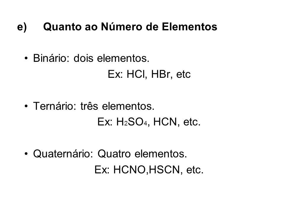 Quanto ao Número de Elementos