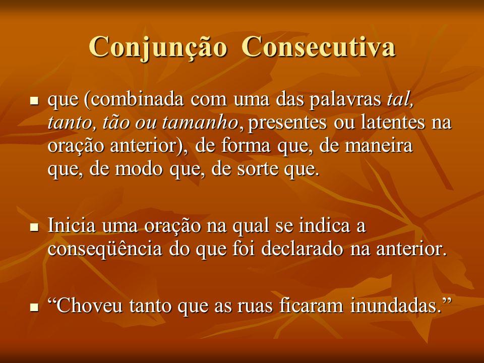Conjunção Consecutiva