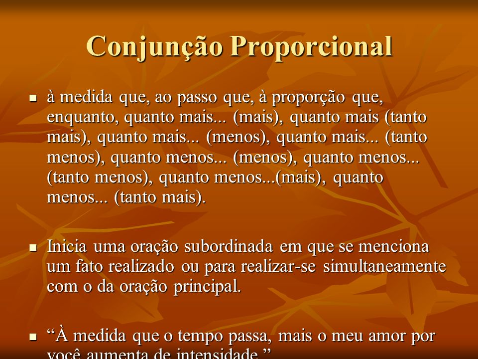 Conjunção Proporcional