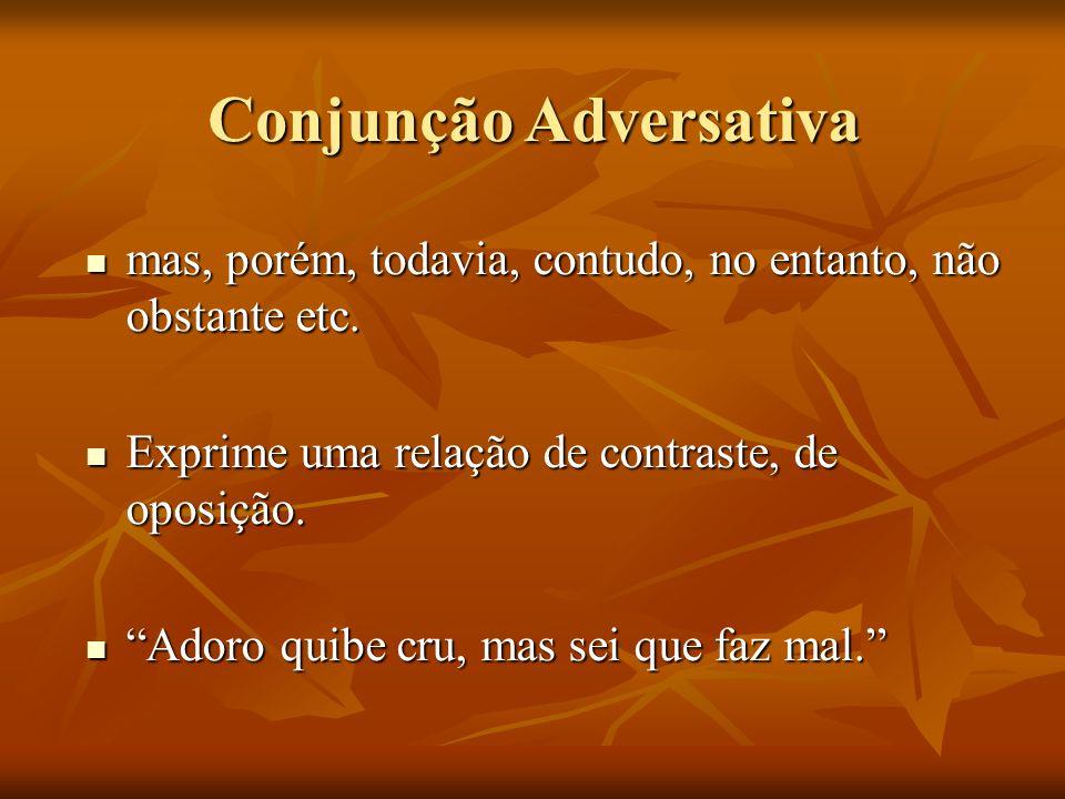 Conjunção Adversativa