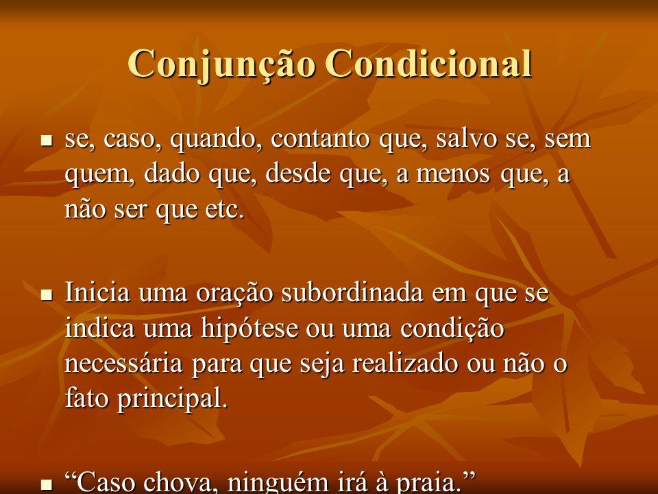 Conjunção Condicional