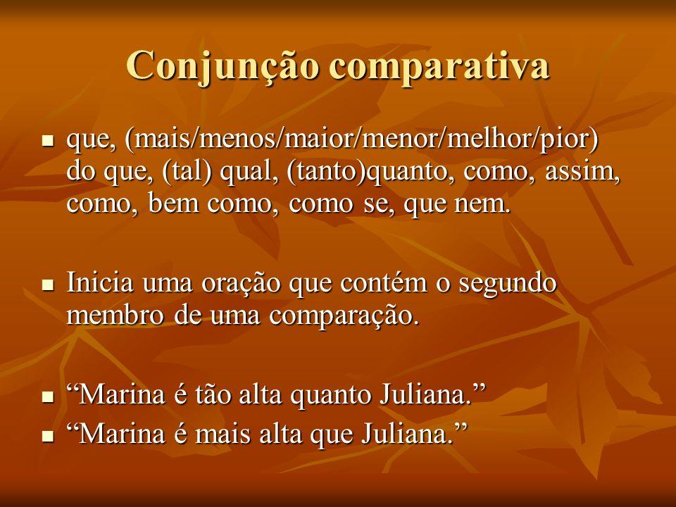 Conjunção comparativa