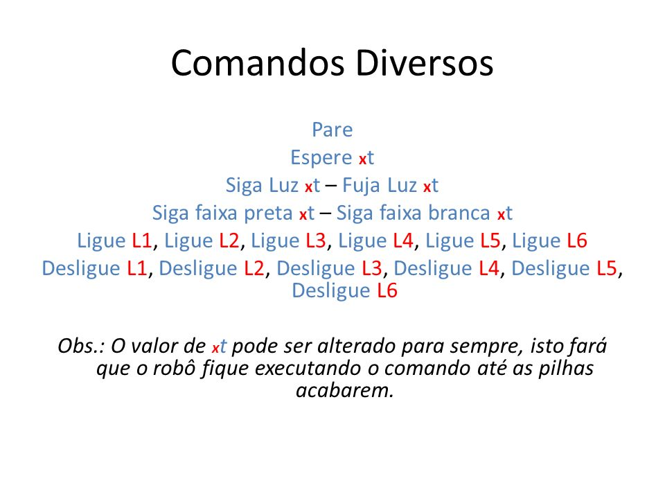 Comandos Diversos