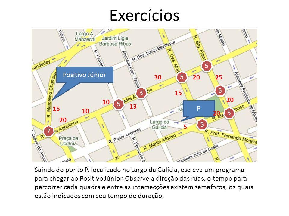 Exercícios 5 Positivo Júnior 30 5 20 25 5 3 15 20 10 5 13 P 15 10 20 5