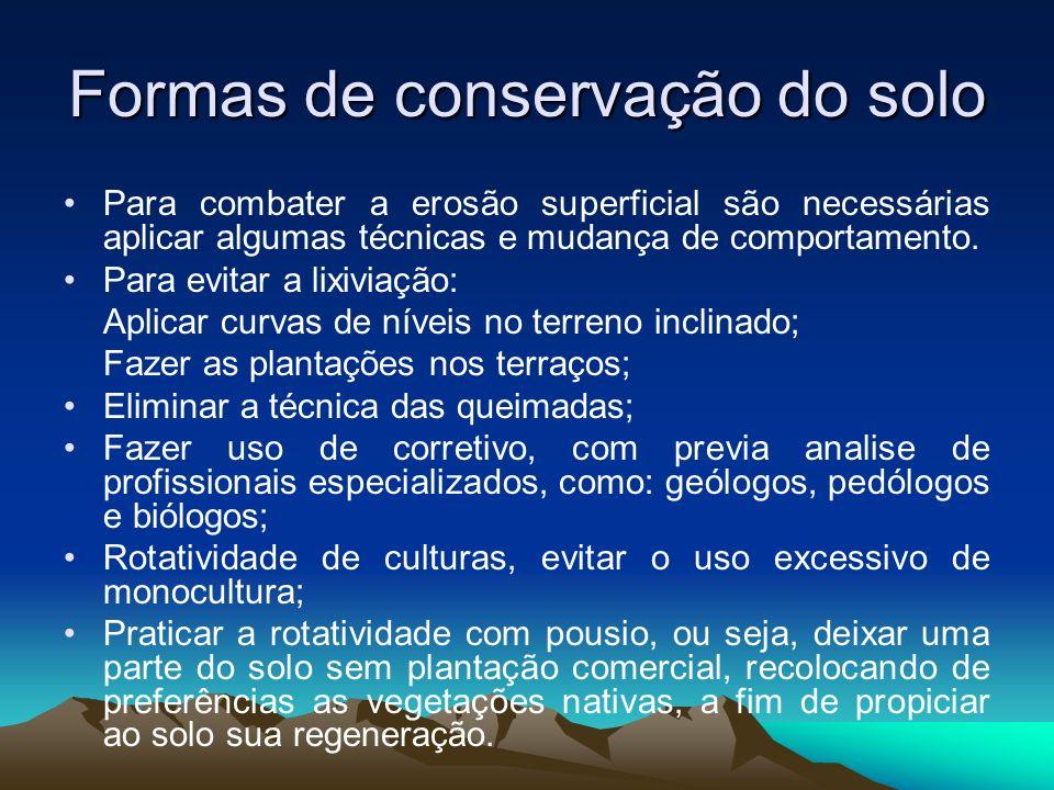 Formas de conservação do solo